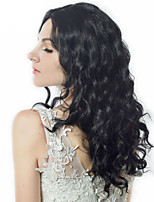 cheap -Synthetic Hair Wigs Wavy Curly Body Wave African American Wig Middle Part Natural Hairline Celebrity Wig Party Wig Natural Wigs Cosplay