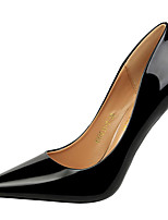 cheap -Women's Shoes Patent Leather Spring Fall Gladiator Basic Pump Heels Stiletto Heel Pointed Toe for Party & Evening Dress Silver Black Gold