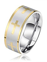 cheap -Men's Women's Band Rings Basic Fashion Stainless Steel Cross Jewelry Party Engagement