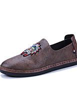 Недорогие -Муж. обувь Полиуретан Весна Лето Удобная обувь Мокасины и Свитер для Повседневные Черный Серый Красный