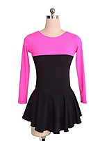 cheap -Figure Skating Dress Women's Girls' Ice Skating Dress Black Spandex Skating Wear Sequin Long Sleeves Figure Skating