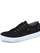 Недорогие -Муж. обувь Резина Весна Осень Удобная обувь Кеды для на открытом воздухе Черный Темно-серый Синий
