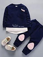 cheap -Boys' Daily Color Block Clothing Set,Nylon Fall Long Sleeve Casual Light Blue Light Green Navy Blue Blushing Pink