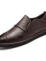 cheap -Men's Shoes Synthetic Microfiber PU Spring Fall Light Soles Loafers & Slip-Ons for Casual Brown Black