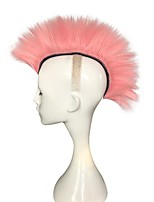 cheap -Hot Mohawk Punk Hair Wig Fancy Rooster Pink Color Wig Costume Rock Wig Cosplay Party Wig