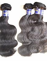 cheap -best peruvian hair bundles weaves 4pieces 400g lot unprocessed virgin human hair material made natural black color