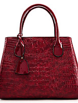 cheap -Women Bags PU Polyester Tote Zipper for Casual All Season Wine Brown Black