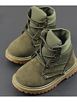 cheap -Boys' Shoes Nubuck leather Spring Fall Comfort Combat Boots Boots Booties/Ankle Boots for Casual Army Green Beige Black