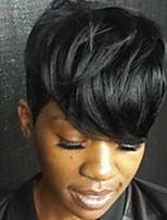 cheap -Human Hair Capless Wigs Human Hair Natural Wave Pixie Cut Side Part Machine Made Wig Women's