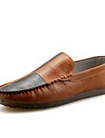 Недорогие -Муж. обувь Искусственное волокно Весна Осень Мокасины Мокасины и Свитер для Повседневные Черный Коричневый Хаки