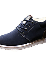 cheap -Men's Shoes PU Nubuck leather Spring Fall Fashion Boots Comfort Boots Booties/Ankle Boots for Casual Gray Blue Khaki