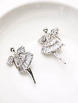 cheap -Women's Stud Earrings Rhinestone Basic Silver Plated Jewelry For Wedding