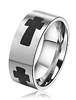 cheap -Men's Women's Band Rings Fashion Hiphop Stainless Steel Cross Jewelry Bar Going out