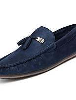 Недорогие -Муж. обувь Резина Весна Осень Мокасины Мокасины и Свитер для Черный Коричневый Синий