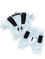 preiswerte -Baby Unisex Kleidungs Set Alltag Geometrisch Baumwolle Frühling Langärmelige Aktiv Blau Rosa