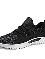 cheap -Men's Shoes Tulle Spring Summer Comfort Sneakers for Casual Outdoor Black Gray Red