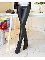 cheap -Women's Retro Cotton Bamboo Fiber Opaque Solid Color Legging,Solid Black