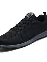 Недорогие -Муж. обувь Тюль Весна Осень Удобная обувь Кеды для Повседневные на открытом воздухе Черный Темно-синий
