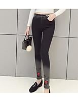 preiswerte -Damen Retro Undurchsichtig Baumwolle Solide Einfarbig Legging,Schwarz
