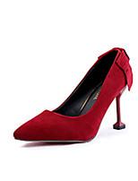 Недорогие -Жен. Обувь Кашемир Весна Удобная обувь Обувь на каблуках На шпильке Заостренный носок Бант для Повседневные Черный Серый Коричневый