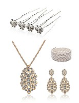 cheap -Women's Hair Sticks Bridal Jewelry Sets Rhinestone Fashion European Wedding Party Imitation Pearl Imitation Diamond Alloy Butterfly Body