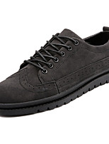 cheap -Men's Shoes PU Leatherette Spring Fall Comfort Sneakers for Casual Black Gray Khaki