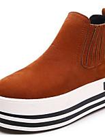 preiswerte -Damen Schuhe Nubukleder Winter Herbst Komfort Springerstiefel Stiefel Creepers Booties / Stiefeletten für Normal Schwarz Braun