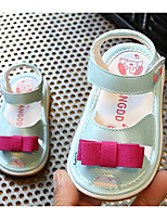 Недорогие -Дети обувь Кожа других животных Весна Лето Обувь для малышей Удобная обувь Сандалии для Повседневные Белый Розовый Светло-синий