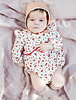 cheap -Baby Girls' Daily Solid Floral One-Pieces,Cotton Bamboo Fiber Spring Simple Short Sleeve Blushing Pink