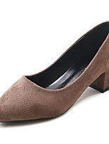 cheap -Women's Shoes Rubber Spring Fall Comfort Heels Low Heel for Outdoor Black Brown Khaki