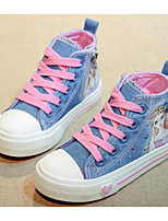 cheap -Girls' Shoes Canvas Spring Fall Comfort Sneakers for Casual Light Blue Dark Blue