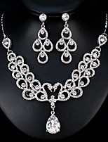 cheap -Women's Jewelry Set Rhinestone Fashion European Wedding Daily Alloy Geometric 1 Necklace Earrings