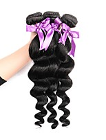 cheap -Brazilian Loose Wave Human Hair Weaves 3 Pieces 0.15