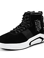 cheap -Men's Shoes PU Winter Fall Fashion Boots Comfort Sneakers Booties/Ankle Boots for Casual Outdoor Black Gray Red