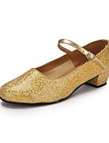 cheap -Women's Modern Paillette PU Heel Paillette Customized Heel Gold Customizable