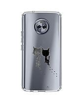 Недорогие -Кейс для Назначение Motorola E4 Plus 5 С узором Кейс на заднюю панель Кот Мягкий ТПУ для Moto X4 Moto E4 Plus Moto E4
