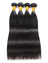 cheap -Brazilian Straight Human Hair Weaves 4 Pieces 0.2