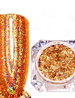 cheap -1pc Pastel Glitter Powder Gold Nail Art Design