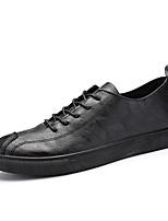 Недорогие -Муж. обувь Дерматин Весна Лето Удобная обувь Кеды для Повседневные Черный
