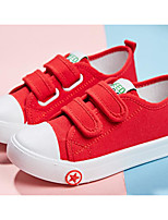 cheap -Girls' Shoes Canvas Spring Fall Comfort Sneakers for Casual Blue Red Black White