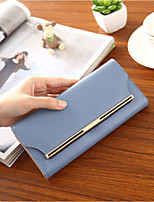 cheap -Women's Bags PU Wallet Buttons for Casual All Seasons Blue Blushing Pink