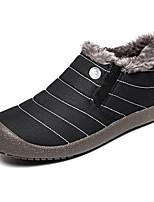 Недорогие -Для мужчин обувь Ткань Зима Осень Удобная обувь Зимние сапоги Ботинки Ботинки для Повседневные Черный Темно-синий Серый