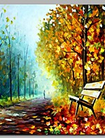 cheap -Hand-Painted Landscape Square, Modern Canvas Oil Painting Home Decoration One Panel
