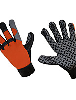 cheap -Sports Gloves Sports Gloves Bike Gloves / Cycling Gloves Keep Warm Windproof Wicking Skidproof Full-finger Gloves Silicone PU Mountain