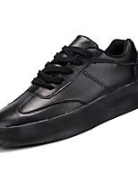 Недорогие -Муж. обувь Искусственное волокно Полиуретан Дерматин Весна Осень Удобная обувь Кеды для Повседневные Белый Черный