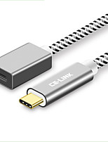 Недорогие -CE-Link USB 2.0 Кабель, USB 2.0 to USB 3.0 Тип C Кабель Male - Female 1.5M (5Ft) 10 Гб/сек.