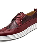 Недорогие -Для мужчин обувь Искусственное волокно Весна Осень Формальная обувь Обувь для дайвинга Кеды для Для вечеринки / ужина Черный Вино