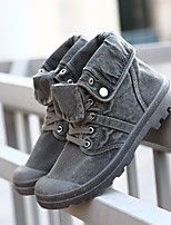 cheap -Men's Shoes Canvas Fall Combat Boots Boots Booties/Ankle Boots for Casual Army Green Yellow Gray
