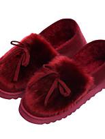 economico -Da donna Scarpe Vellutato Inverno Autunno Comoda Pantofole e infradito Piatto per Casual Nero Arancione Grigio Borgogna