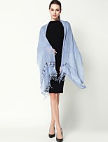 cheap -Sleeveless Polyester/Cotton Blend Party / Evening Office / Career Tassel Sided Hollow Out Shawls